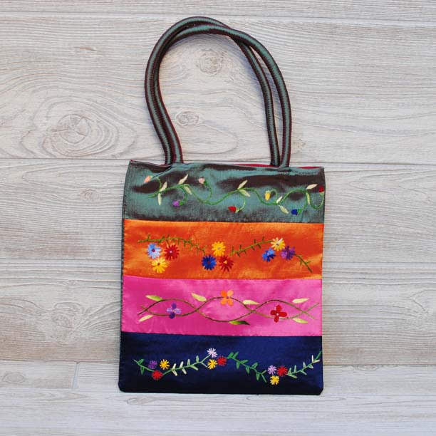 Silk Floral Embroidery Bag 108