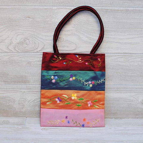Silk Floral Embroidery Bag 110