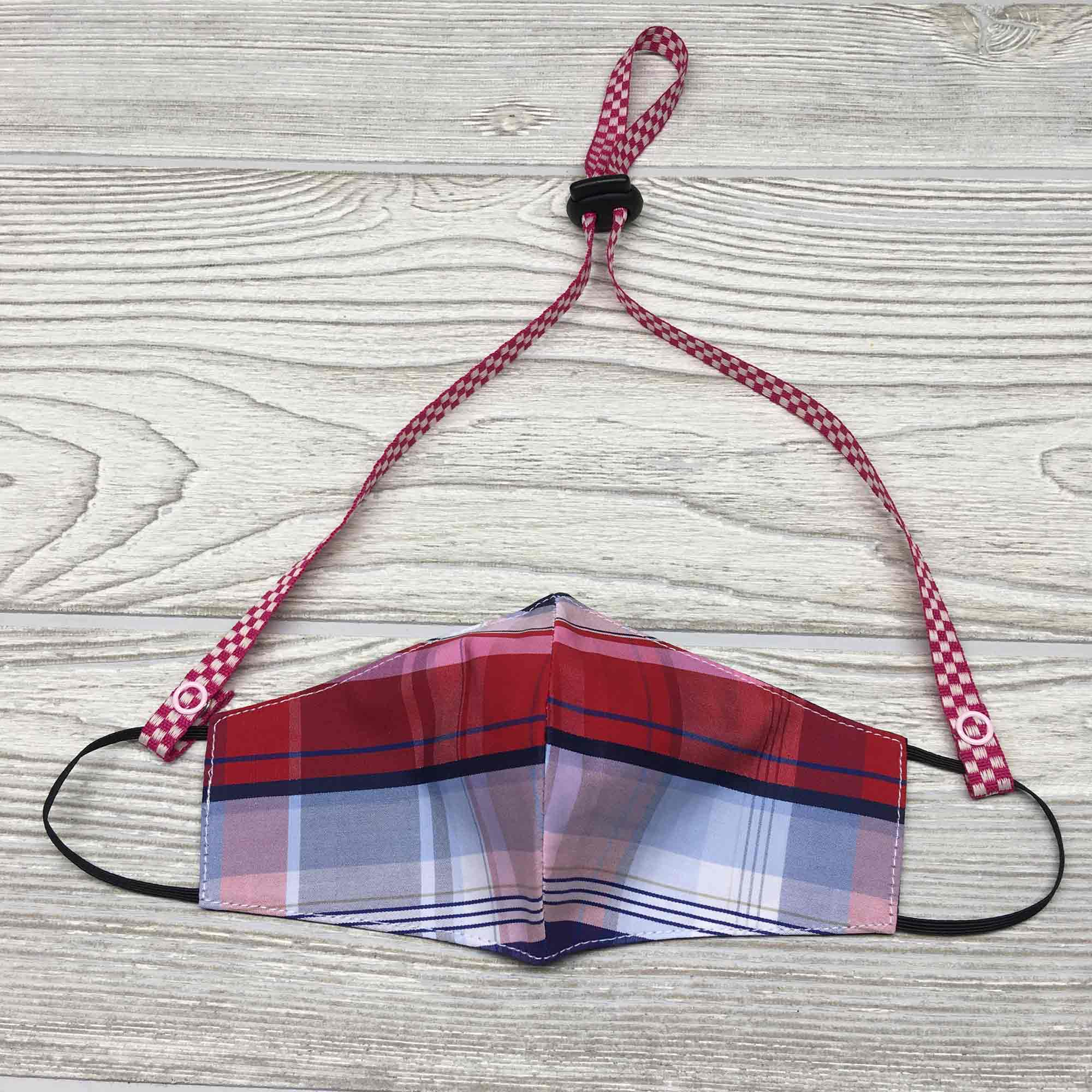"Chic Face Mask Lanyard Holder Strap 24"" - Solid Colors"
