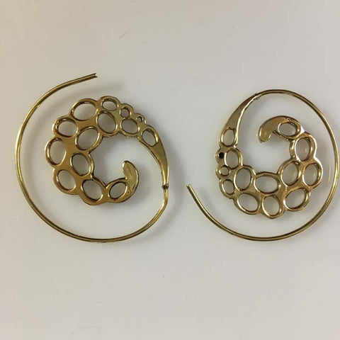 Handmade Brass Earrings