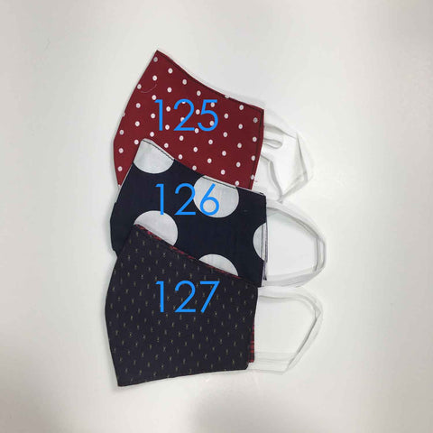 Handmade Cloth / Cotton Face Masks - 3D Medium - 125-127