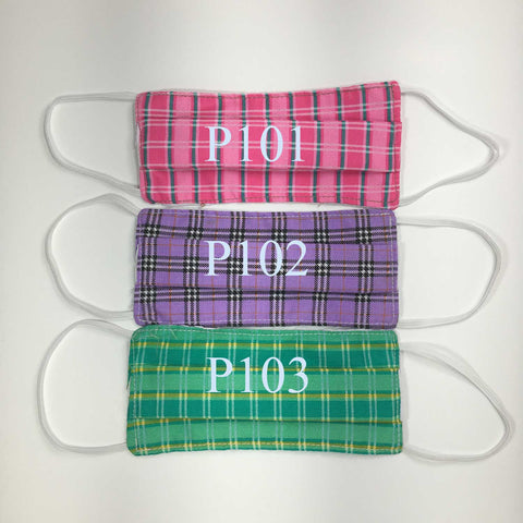 Handmade Cotton SMALL KIDS Face Masks - Pleated - P101-P103