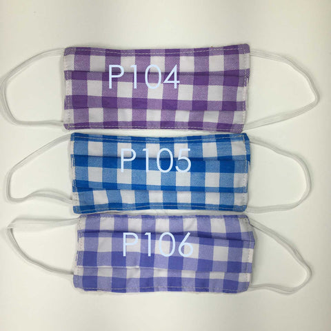 Handmade Cotton SMALL KIDS Face Masks - Pleated - P104-P106