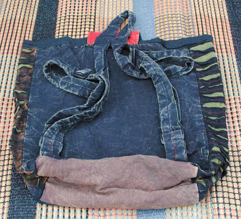 Handmade Hobo Boho Cotton Ripped Razor Cut Backback - 100