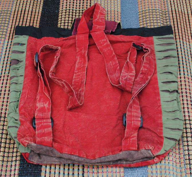 Handmade Hobo Boho Cotton Ripped Razor Cut Backback - 101