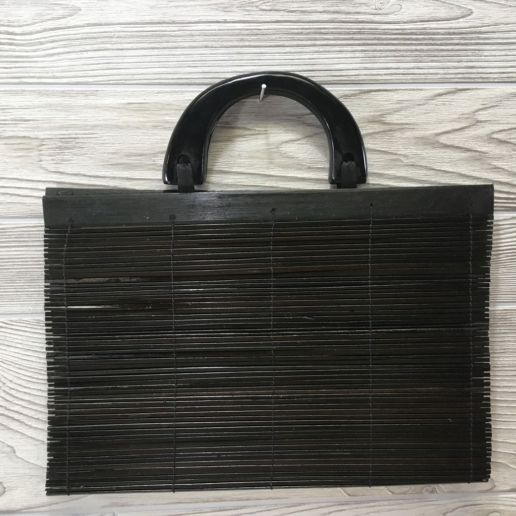 Natural Eco-Friendly Bamboo Handbag - XLarge Black