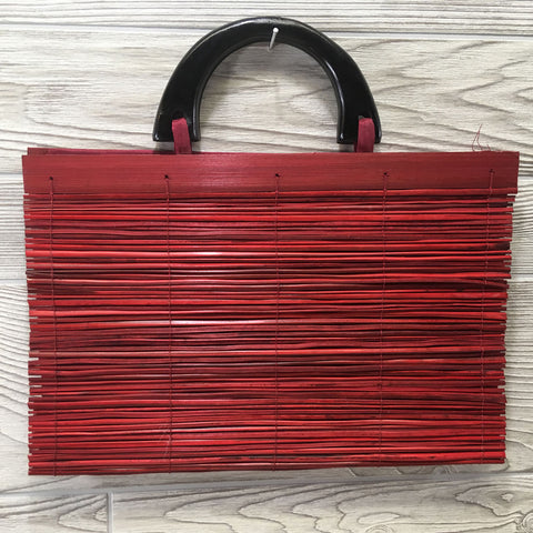 Natural Eco-Friendly Bamboo Handbag - XLarge Red