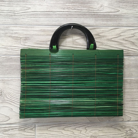 Natural Eco-Friendly Bamboo Handbag - XLarge Green