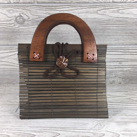 Natural Eco-Friendly Bamboo Bag - Small - Brown