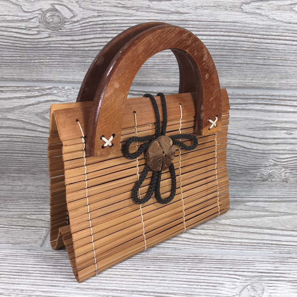 Natural Eco-Friendly Bamboo Bag - Small - Natural