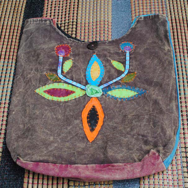 Handmade Hobo Boho Cotton Crossbody Bag - 112