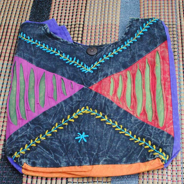 Handmade Hobo Boho Cotton Crossbody Bag - 113