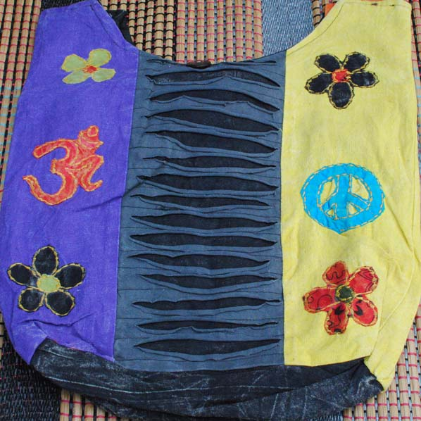 Handmade Hobo Boho Cotton Crossbody Bag - 108