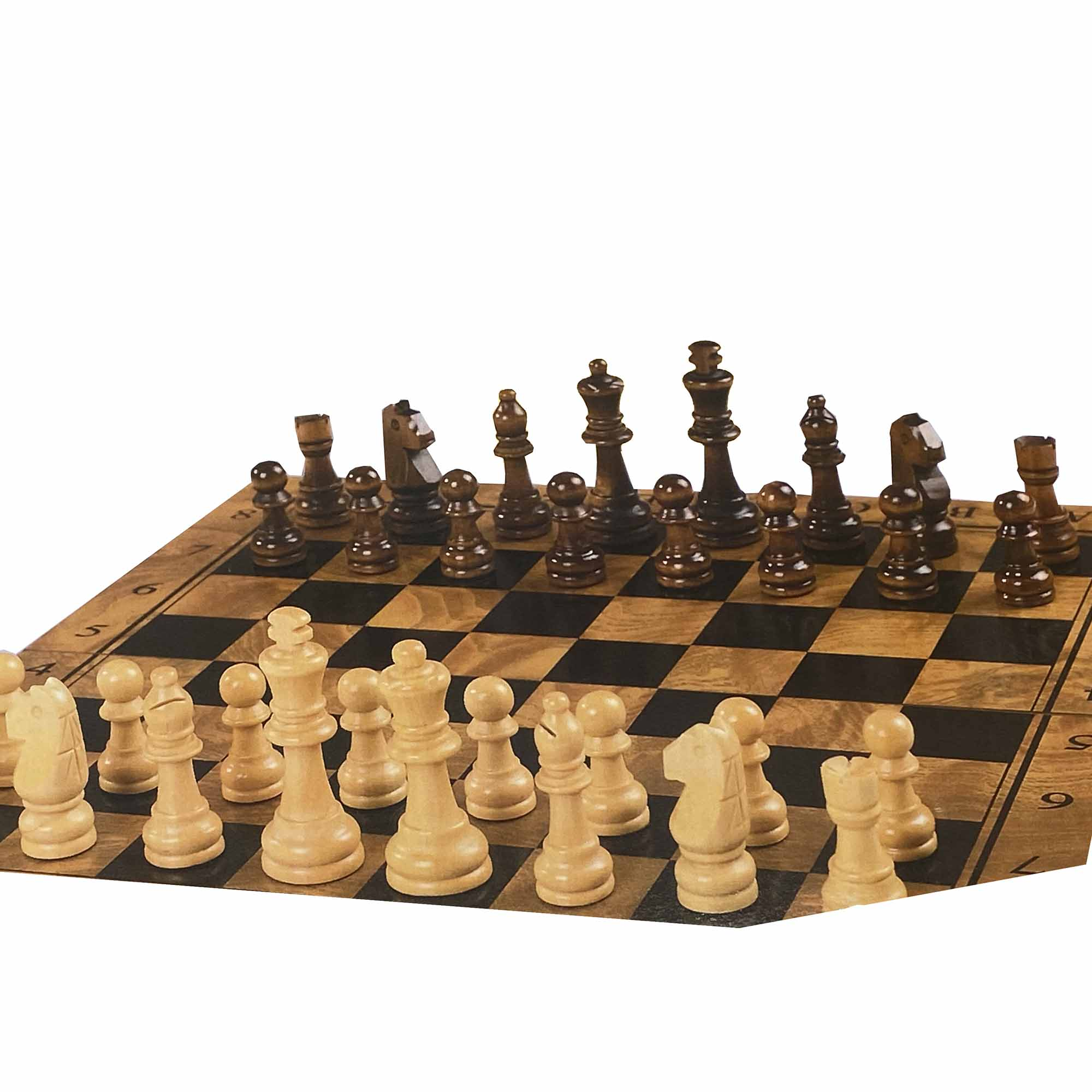 Wooden Chess Set / 3-in-1 Game Set - Jumbo