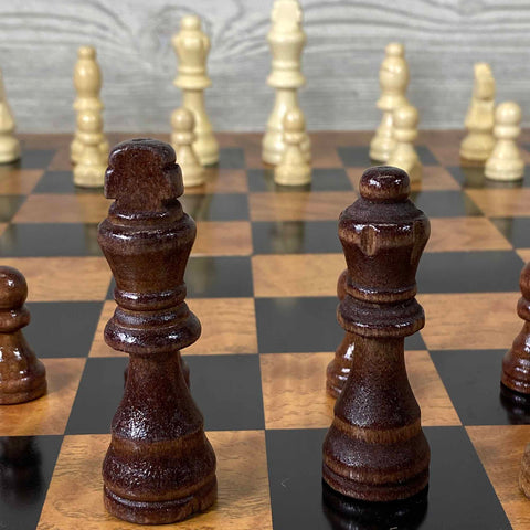 Wooden Chess Set / 3-in-1 Game Set - Small