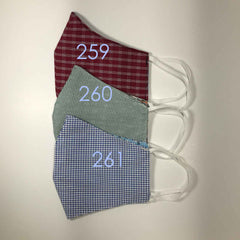 Handmade Cloth / Cotton Face Masks - 3D Medium - 259-261