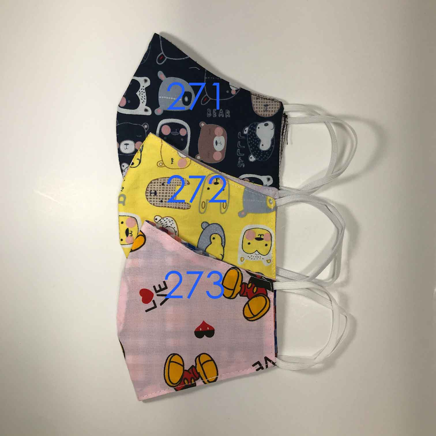 Handmade Cloth / Cotton Face Masks - Reversible 3D Medium - 271-273
