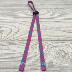 "Chic Face Mask Lanyard Holder Strap with Stopper 24"" - Checkered"
