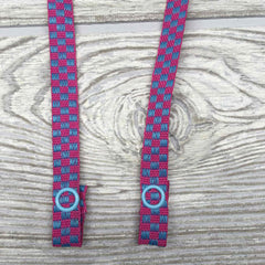 "Chic Face Mask Lanyard Holder Strap 24"" - Checkered"