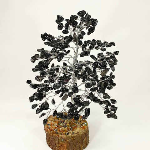 Feng Shui Gemstone Tree of Life - 300 Beads - Black Agate