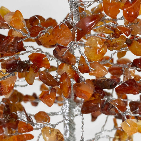 Feng Shui Gemstone Tree of Life - 300 Beads - Carnelian