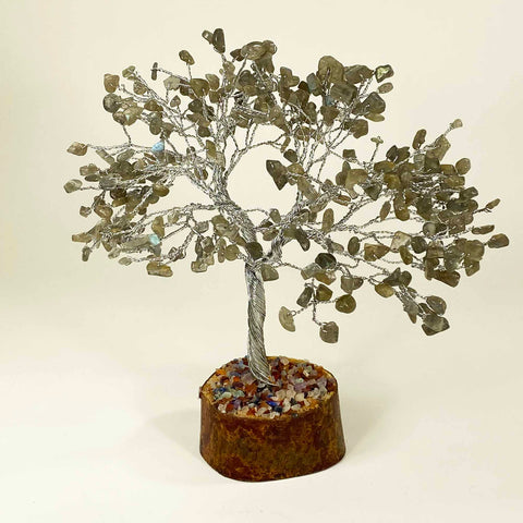 Feng Shui Gemstone Tree of Life - 300 Beads - Labradorite