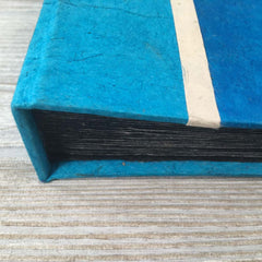 Handmade Paper Photo Album Journal - Small - Jewel Aqua Blue