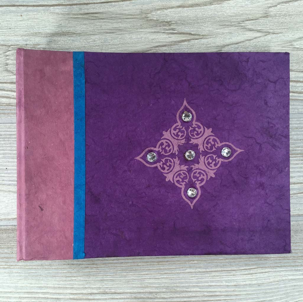 Handmade Paper Photo Album Journal - Small - Jewel Purple