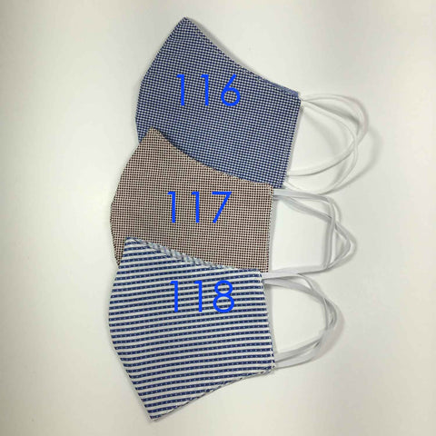 Handmade Cloth / Cotton Face Masks - 3D Medium - 116-118