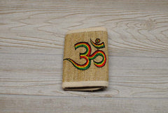 Hemp Bi-Fold Wallet - Rainbow Om
