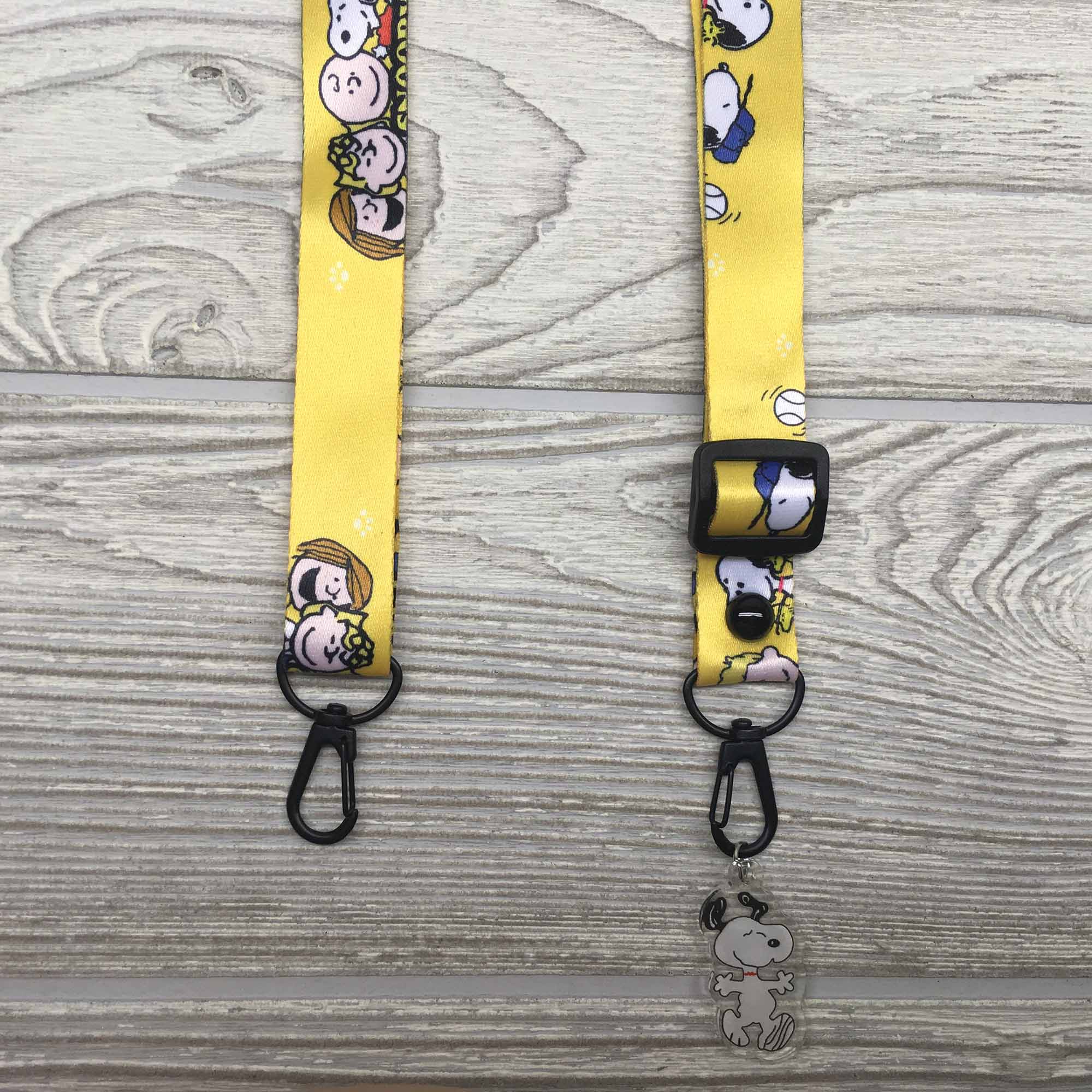 Face Mask Strap Holder Adjustable for Kids and Adults - Charlie Brown + Peanuts Gang