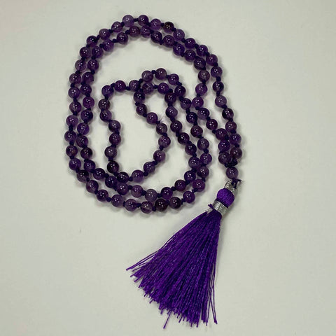 108 Japa Mala Meditation Necklace - Amethyst