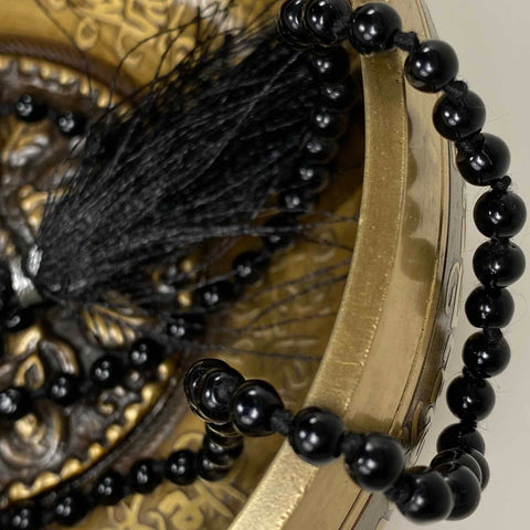 108 Japa Mala Meditation Necklace - Blackstone