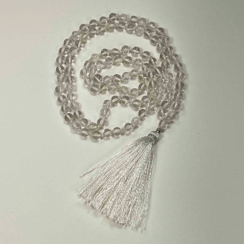 108 Japa Mala Meditation Necklace - Crystal