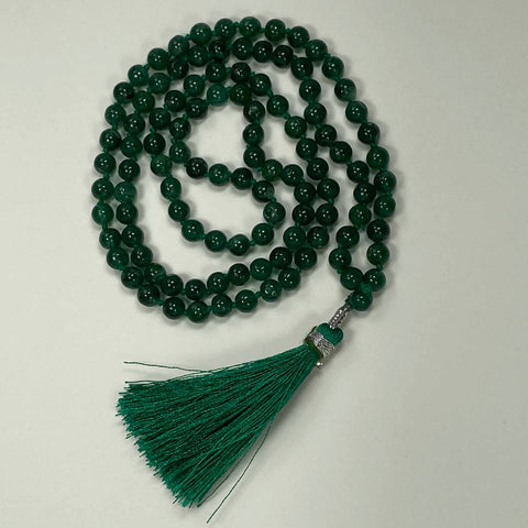 108 Japa Mala Meditation Necklace - Green Aventurine
