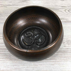 "Singing Bowl - 4 1/2"" - Embossed with Om"