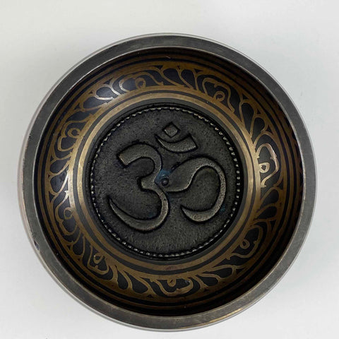 Singing Bowl - Embossed Om / Aum - 3 1/2""