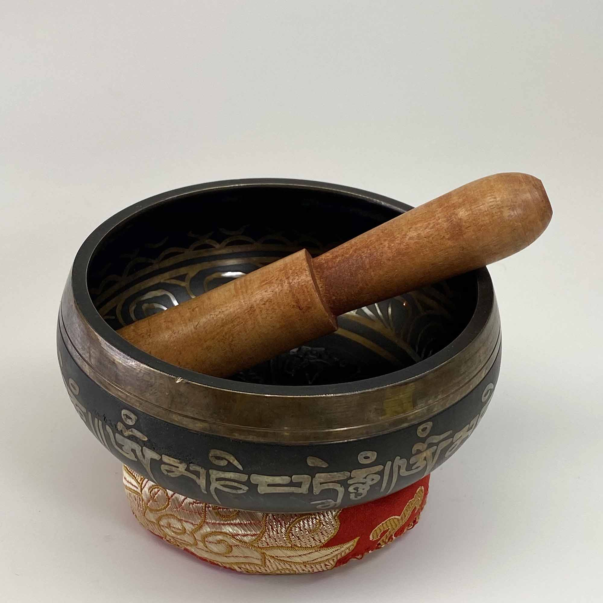 Singing Bowl - Embossed 4 Buddhas - 3 1/2""