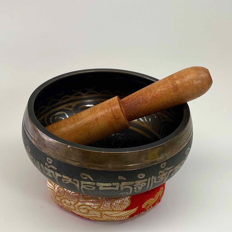 Singing Bowl - Embossed Om Mani Padme Hum - 4""