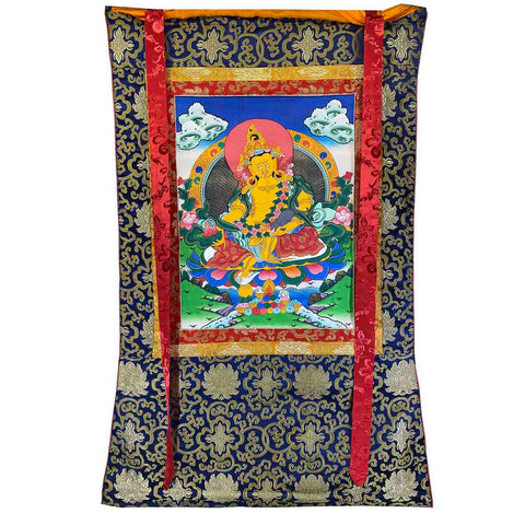 Hand Painted Thangka - Zambala