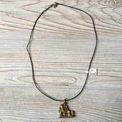 Brass Pendant Necklace - Ganesh