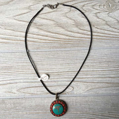 Tibetan Silver Pendant Necklace - Buddha Eye