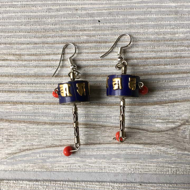 Handmade Tibetan Silver Earrings