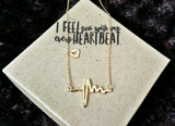 gold EKG heartbeat necklace for bestfriends