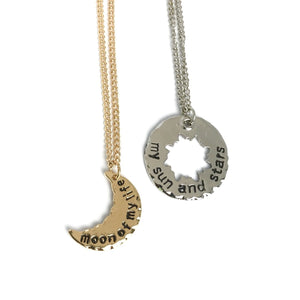 Game of Thrones couple matching necklace - My sun and stars - Moon of my life -