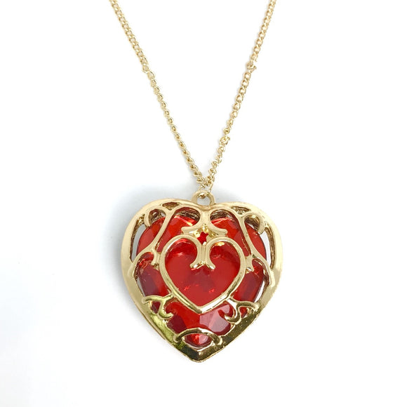 The legend of Zelda Heart container charm necklace