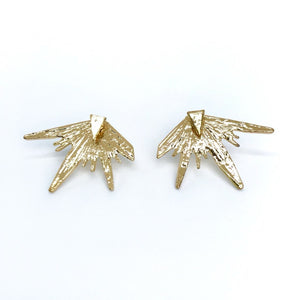 modern spiky starburst ear jacket in gold