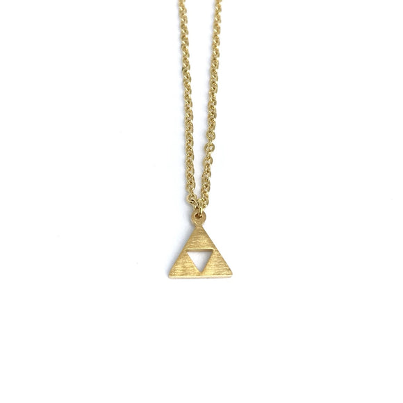 The legend of Zelda inspired Gold Triforce charm necklace for Zelda fans