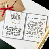 "Dainty tree branch necklace in gold/silver with custom thank you card ""I'm so blessed to have you as my friend"" - cute meaningful personalized gift for best friend"