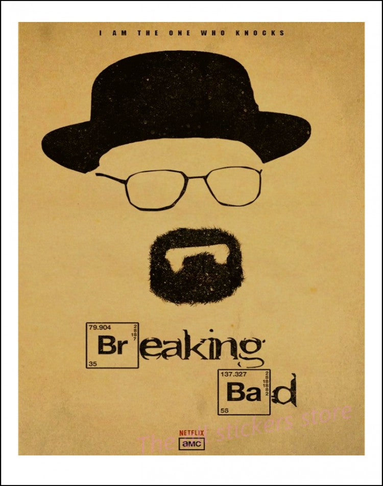 Breaking Bad Posters Movie Posters Vintage Kraft Paper Retro Wall ...